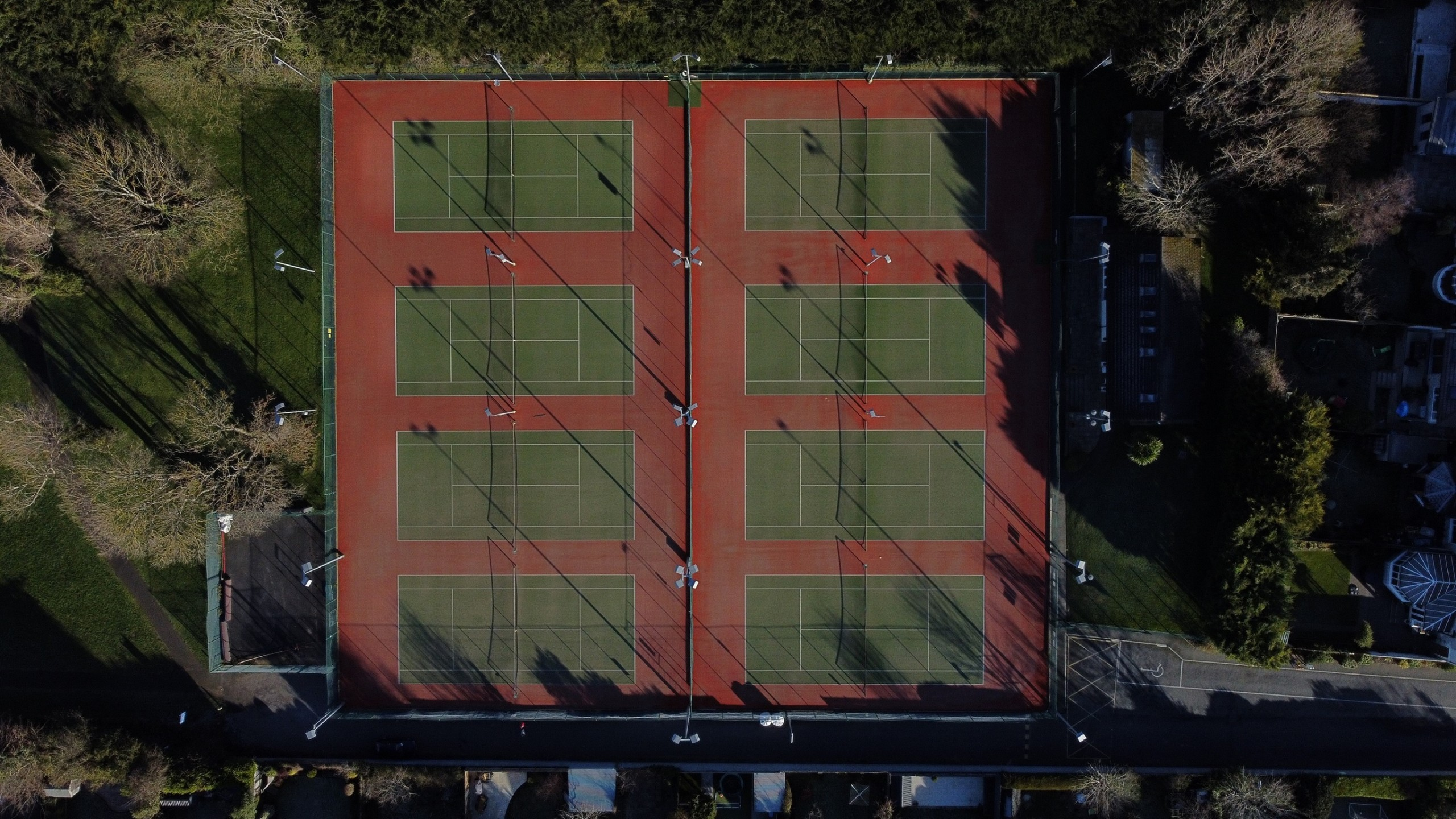 Leopardstown Tennis Club Courts Aerial View
