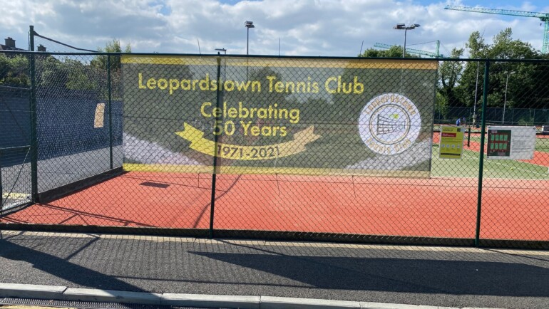 Club 50th Birthday Banners Go Up!